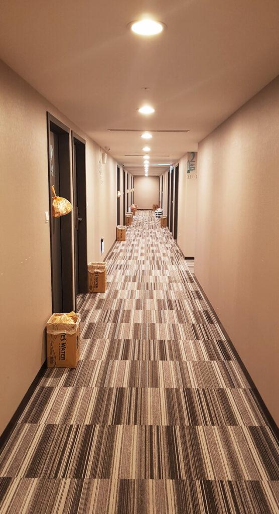 防疫旅館禾順商旅二樓走道