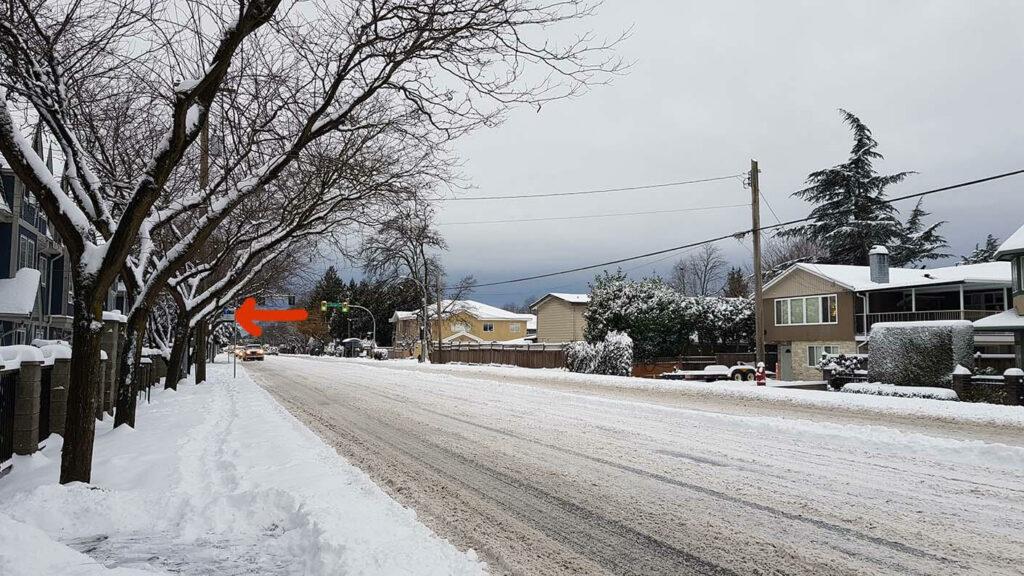 溫哥華住宿也需要面對的下雪街道