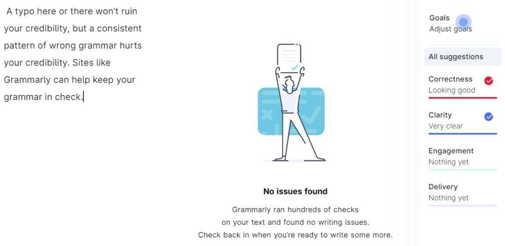 網站可信度:使用Grammarly檢查語法
